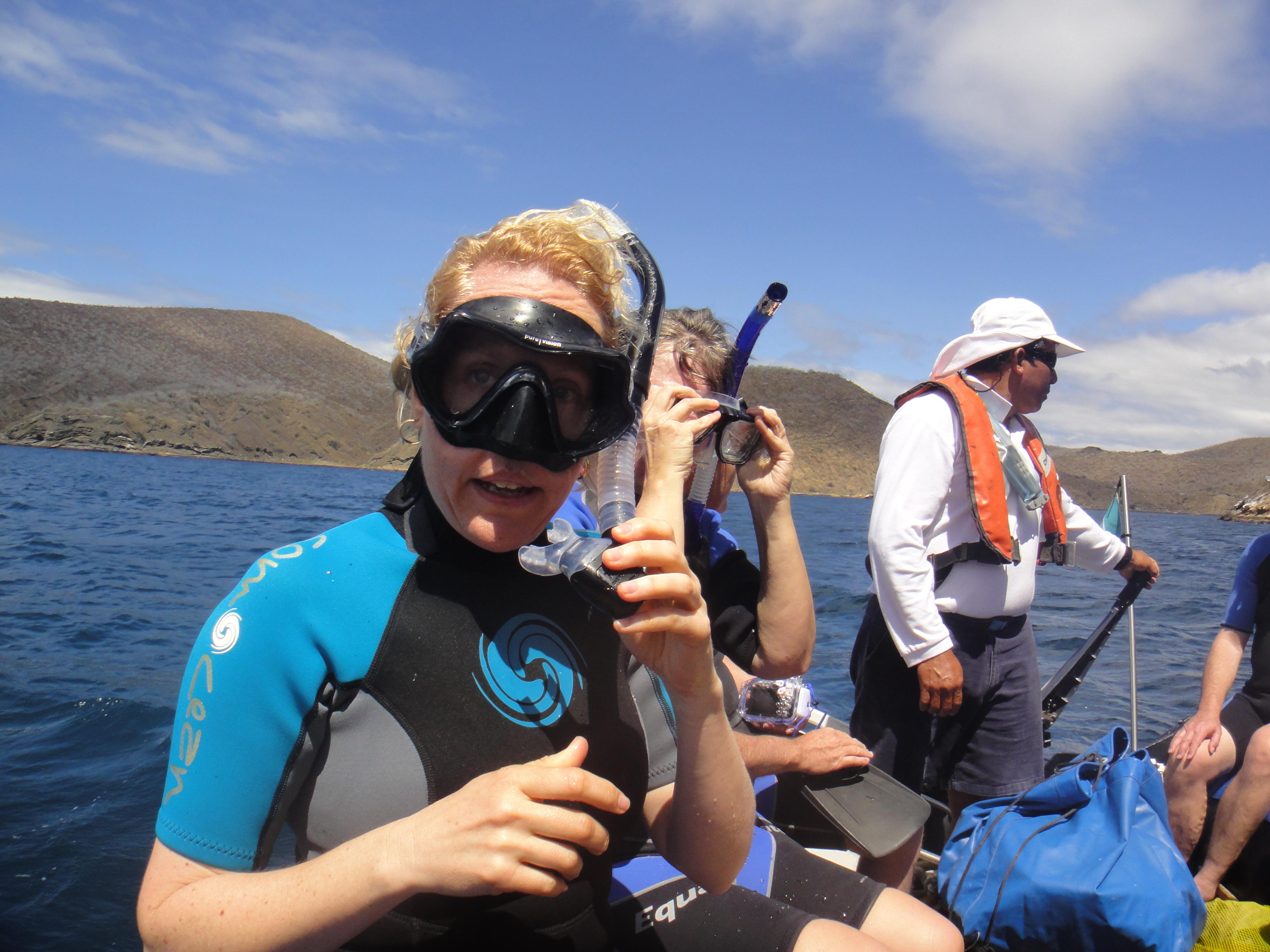 Nic looking oh so attractive in her snorkel gear!