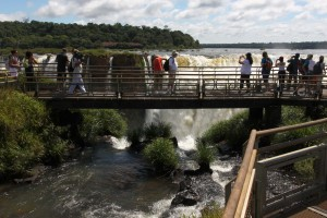 The walkway and falls