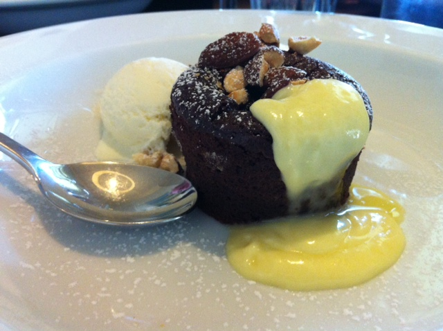 Chocolate self-saucing pudding at Vasarelli's in McLaren Vale