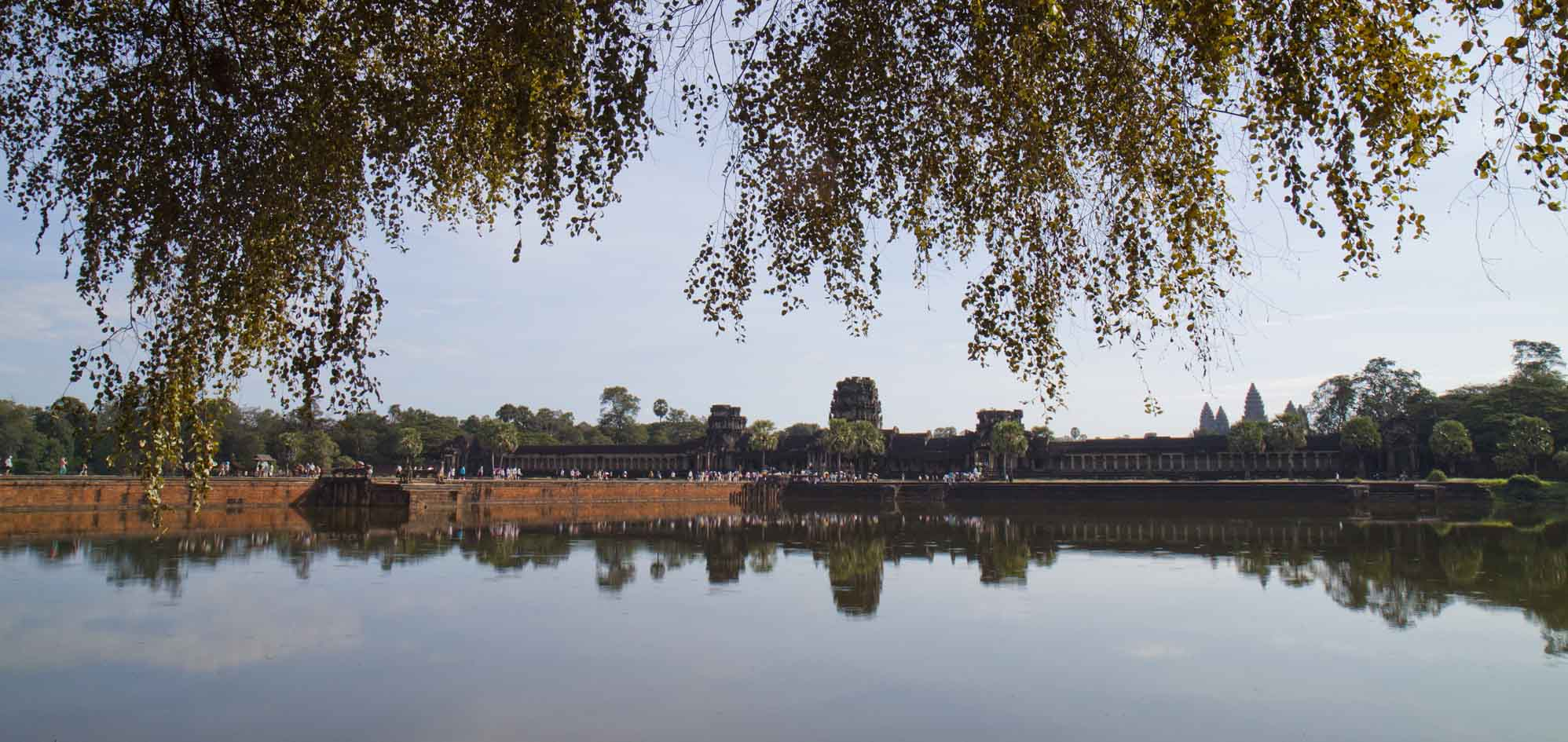 Approaching Angkor Wat from the west