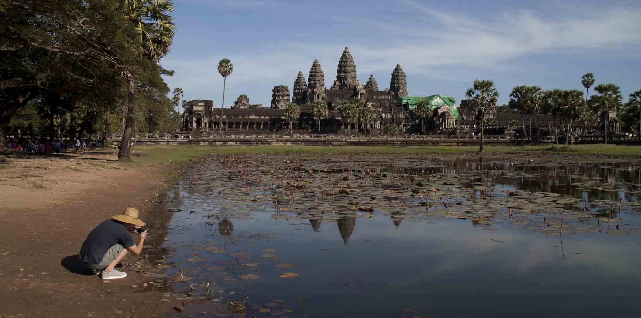 Angkor Wat, not so crowded in the afternoon