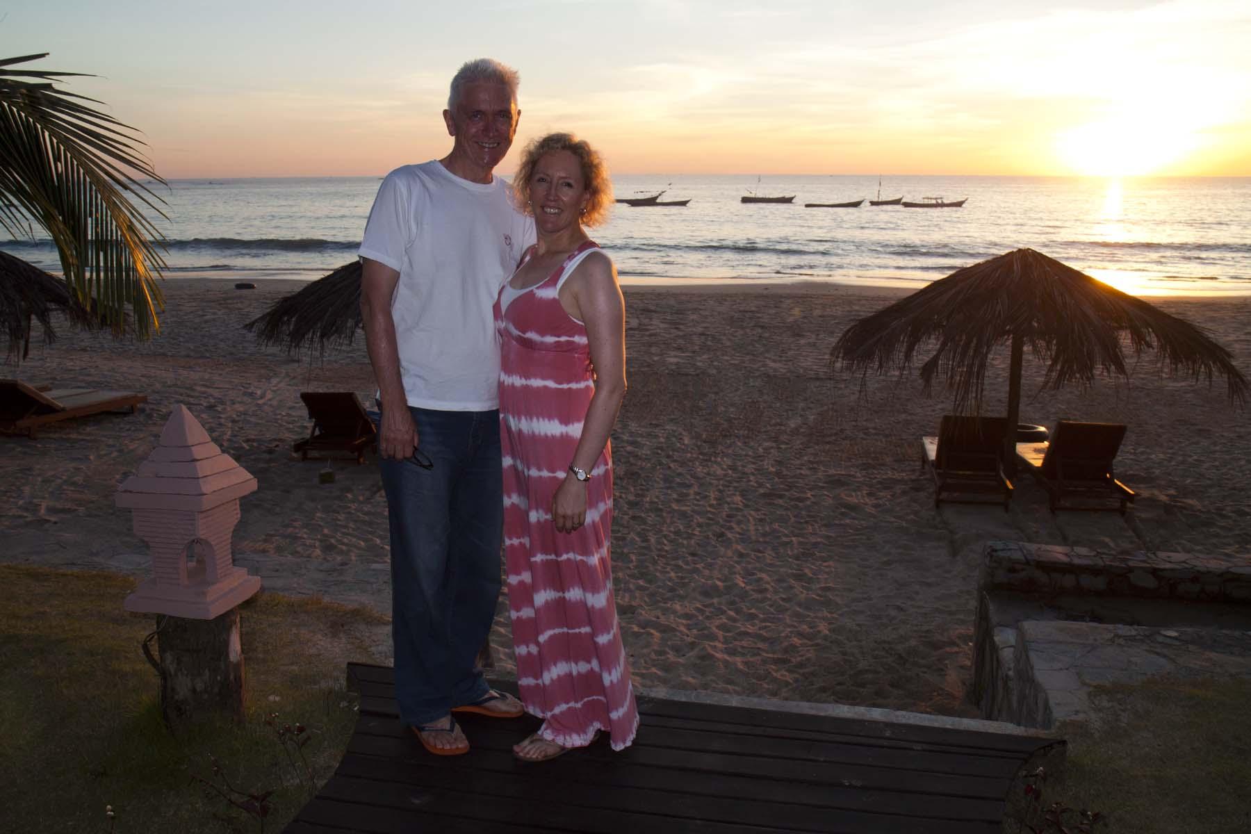 John & Nic in paradise