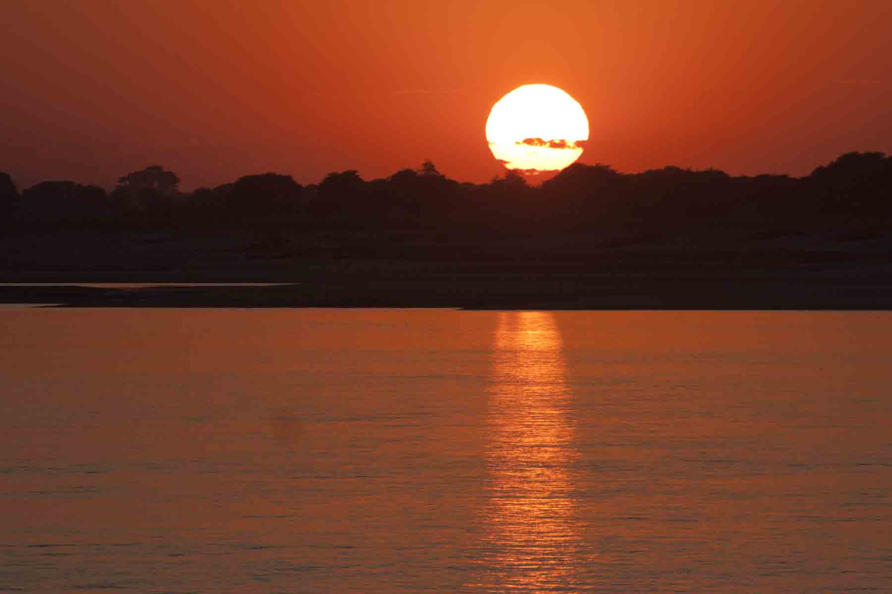 Sunset on the Irrawaddy