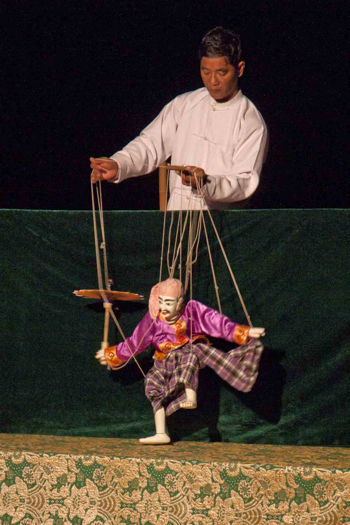 Myanmar puppet show