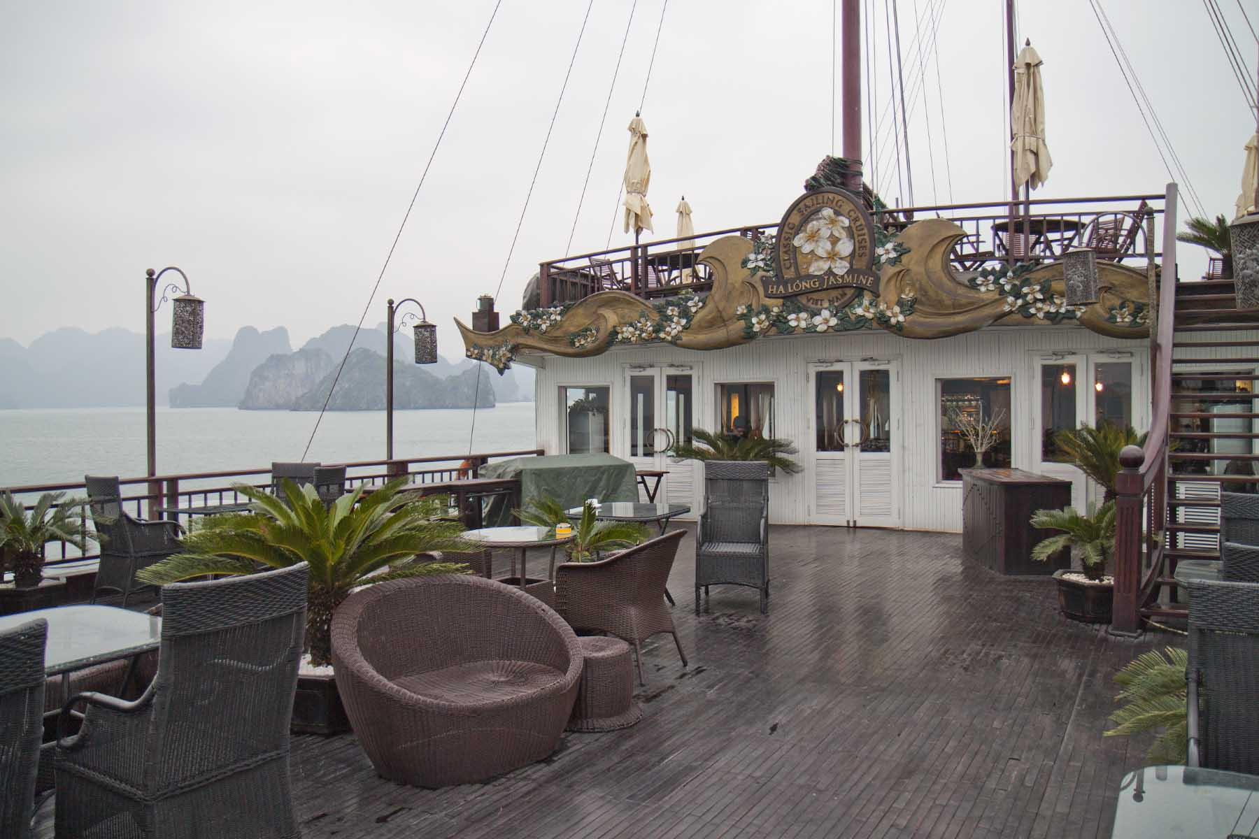 The deck of the Halong Jasmine