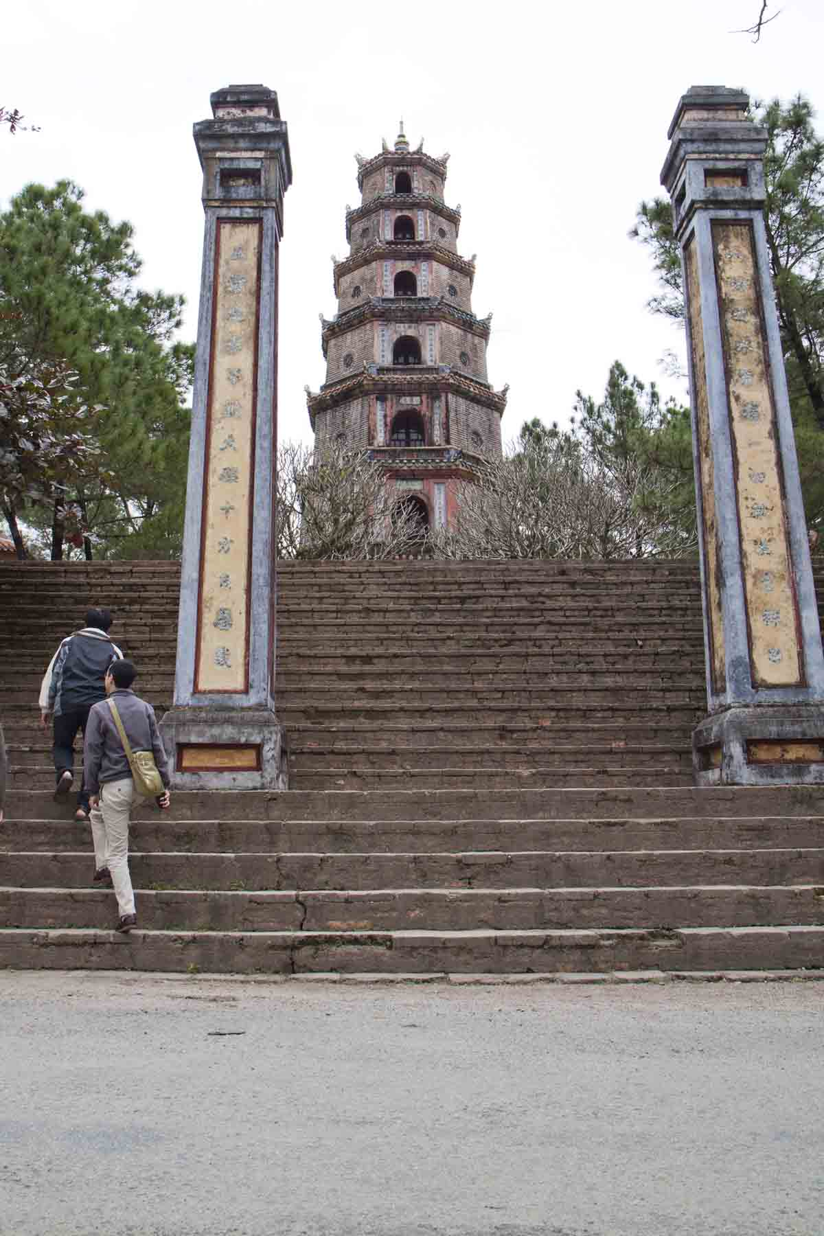 The steps to the Thien Mu Pagoda, Hue