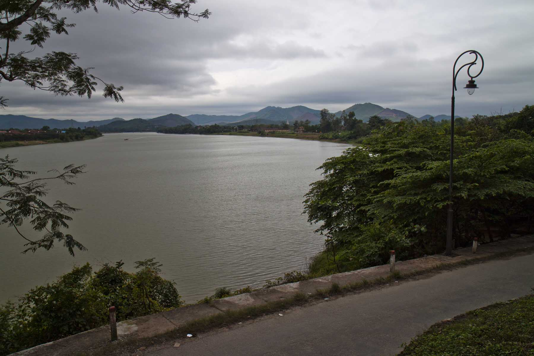 View of the Perfume River from the Thien Mu Pagoda, Hue