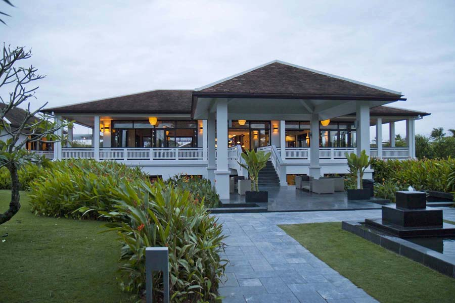 The central building of Fusion Maia Resort