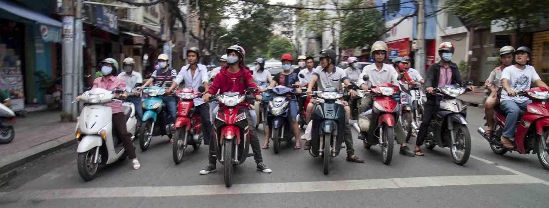 Saigon scooters