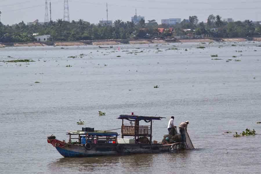Fishing boats, Mekong Delta