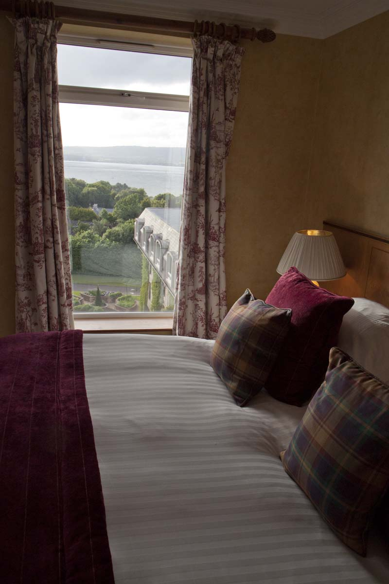 View of the Irish Sea from our Harris Suite at The Culloden Hotel