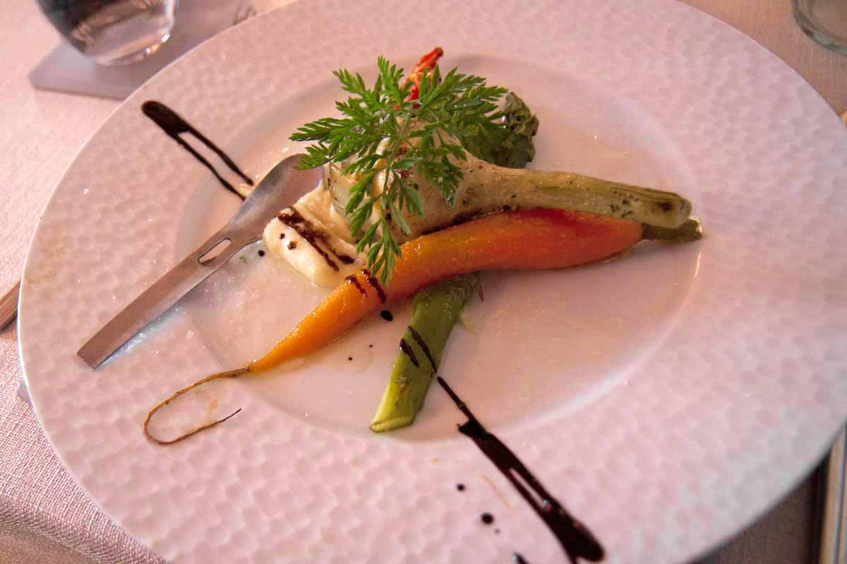 Exotic vegetable plate at Le Lion d'Or restaurant, Amboise