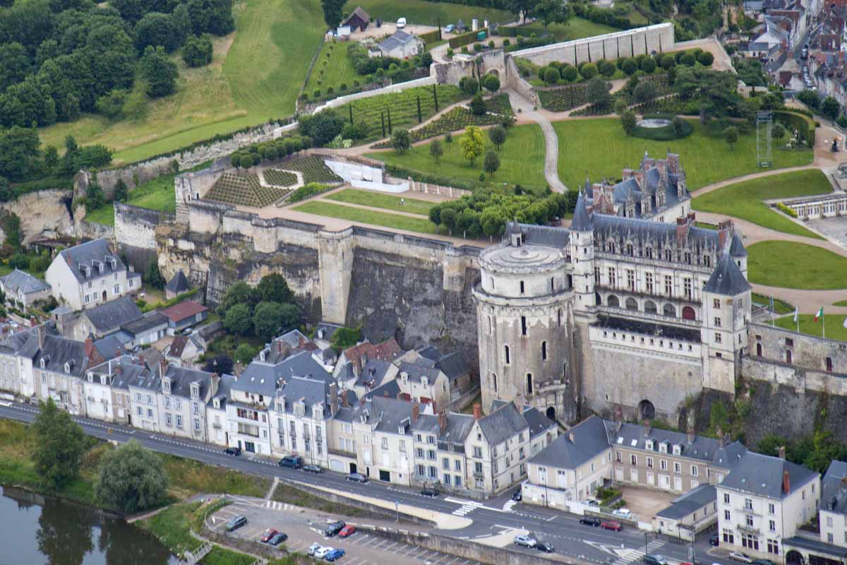 View of Château d'Amboise (and our B&B, Les Fleurons)