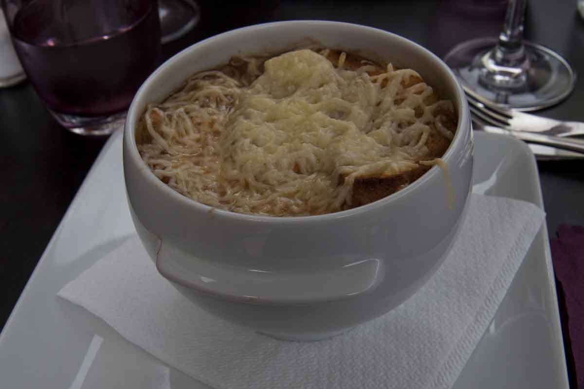 For lunch - French onion soup