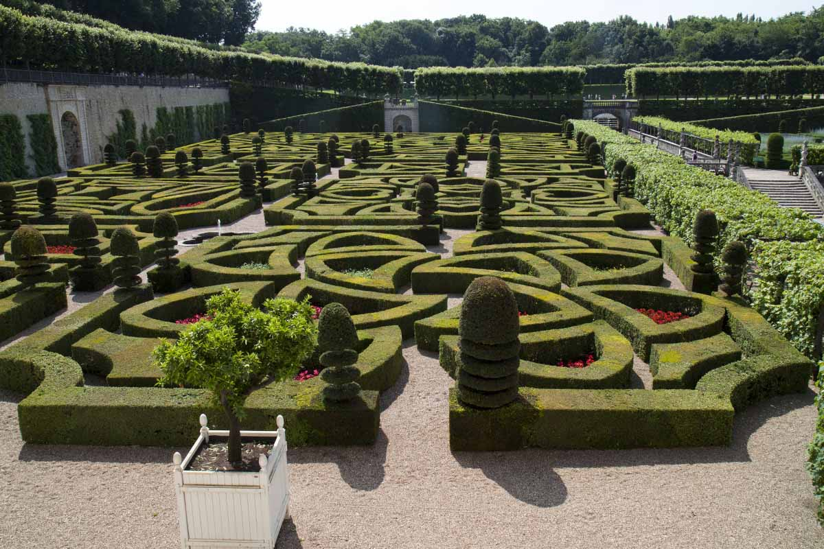 The 'love' garden at Château de Villandry