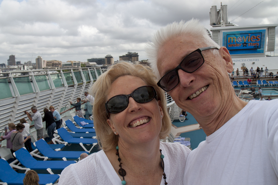 Nic and John - selfie aboard the 'Dawn Princess'