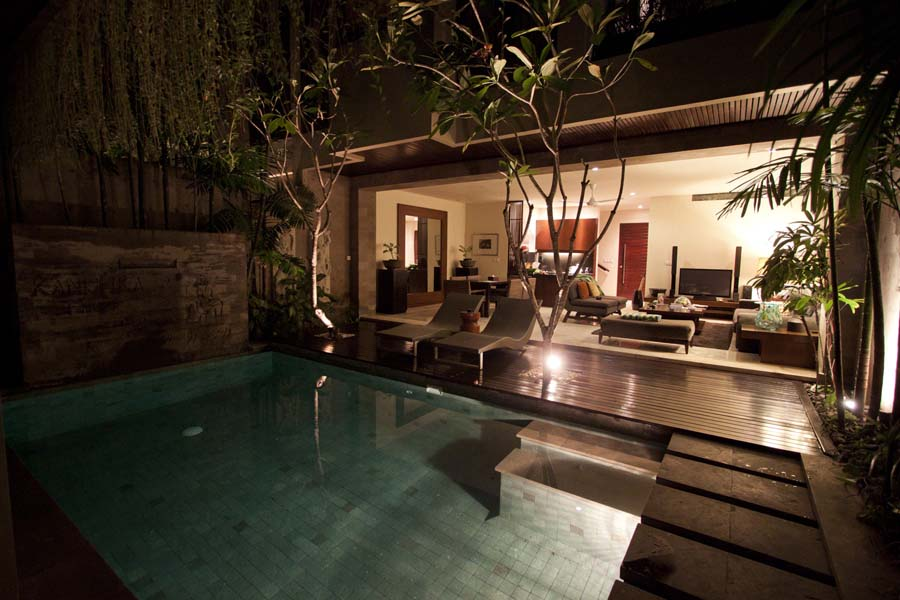Villa pool at Kanishka Villas, Seminyak