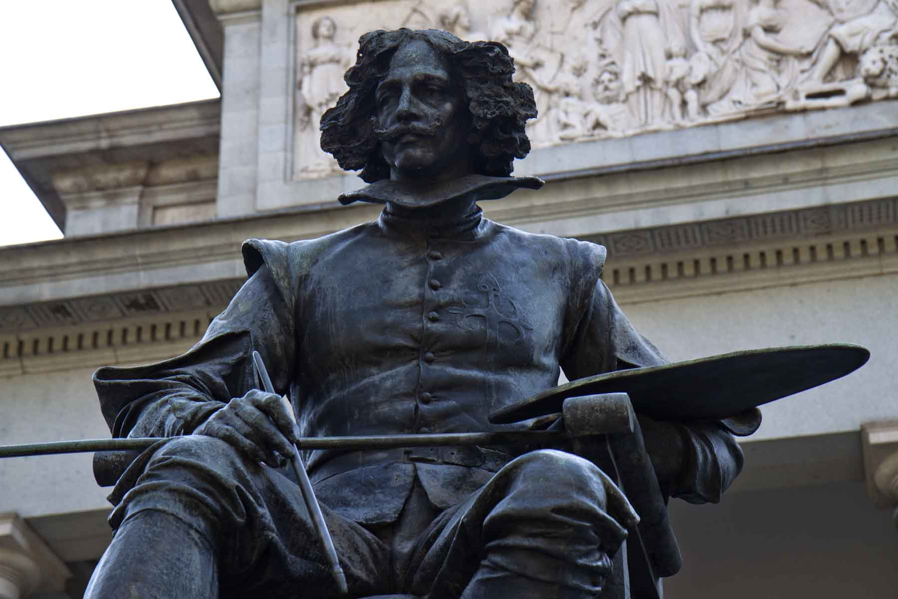 Statue of Velázquez outside of the Prado, Madrid