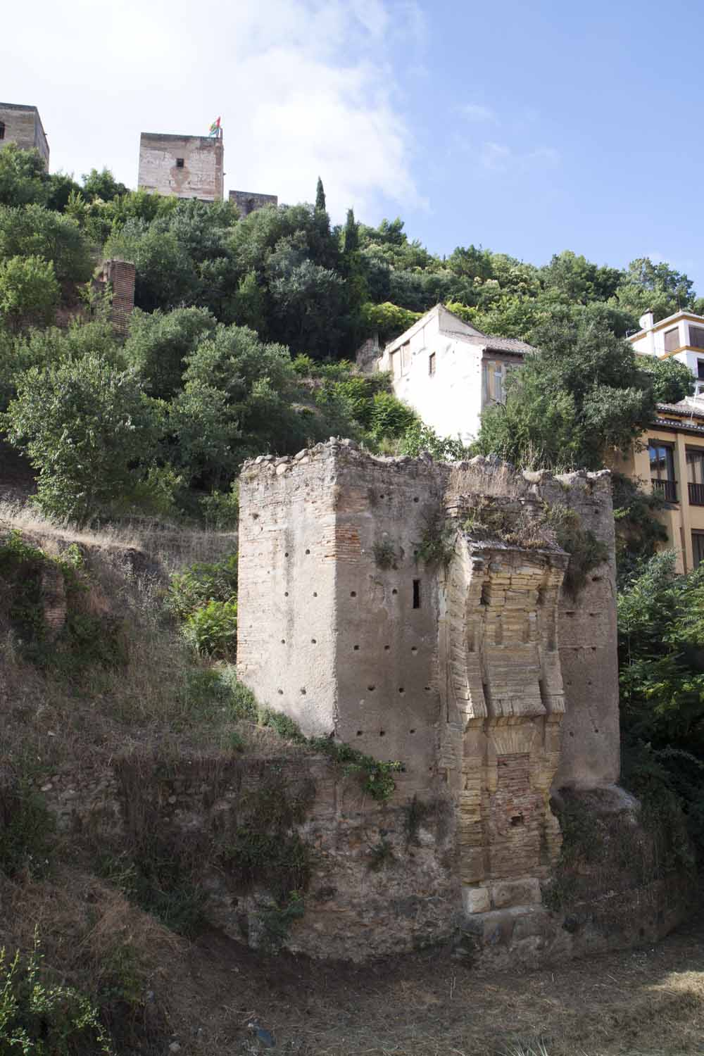 Remains of medieval bridge, River Darro, Granada
