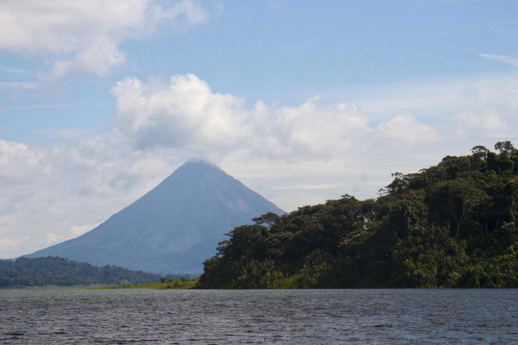 Arenal Volcano from Lake Arenal, Costa Rica