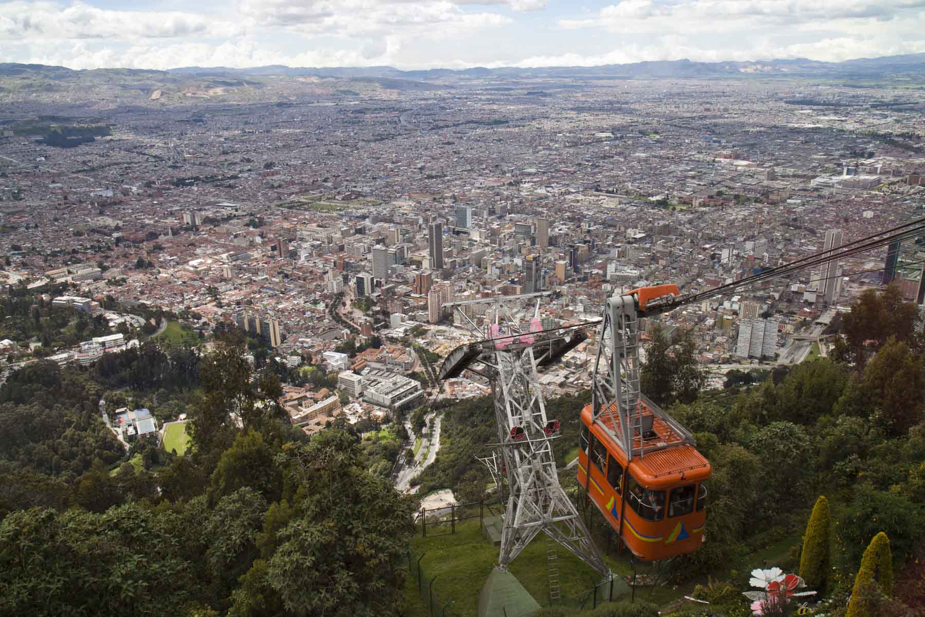 Cable car at Mount Montserrate, Bogota, Colombia