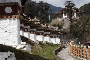 The Druk Wangyal Chortens at Dochu La Pass, Bhutan