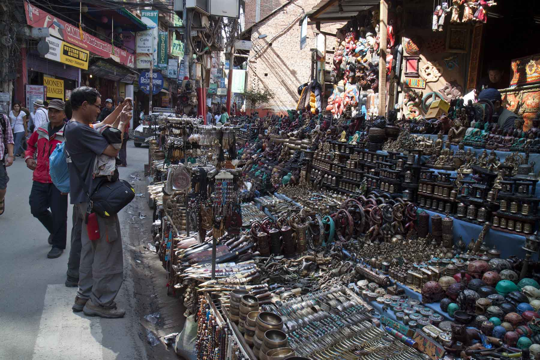 Lots of stuff, shopping in Thamel