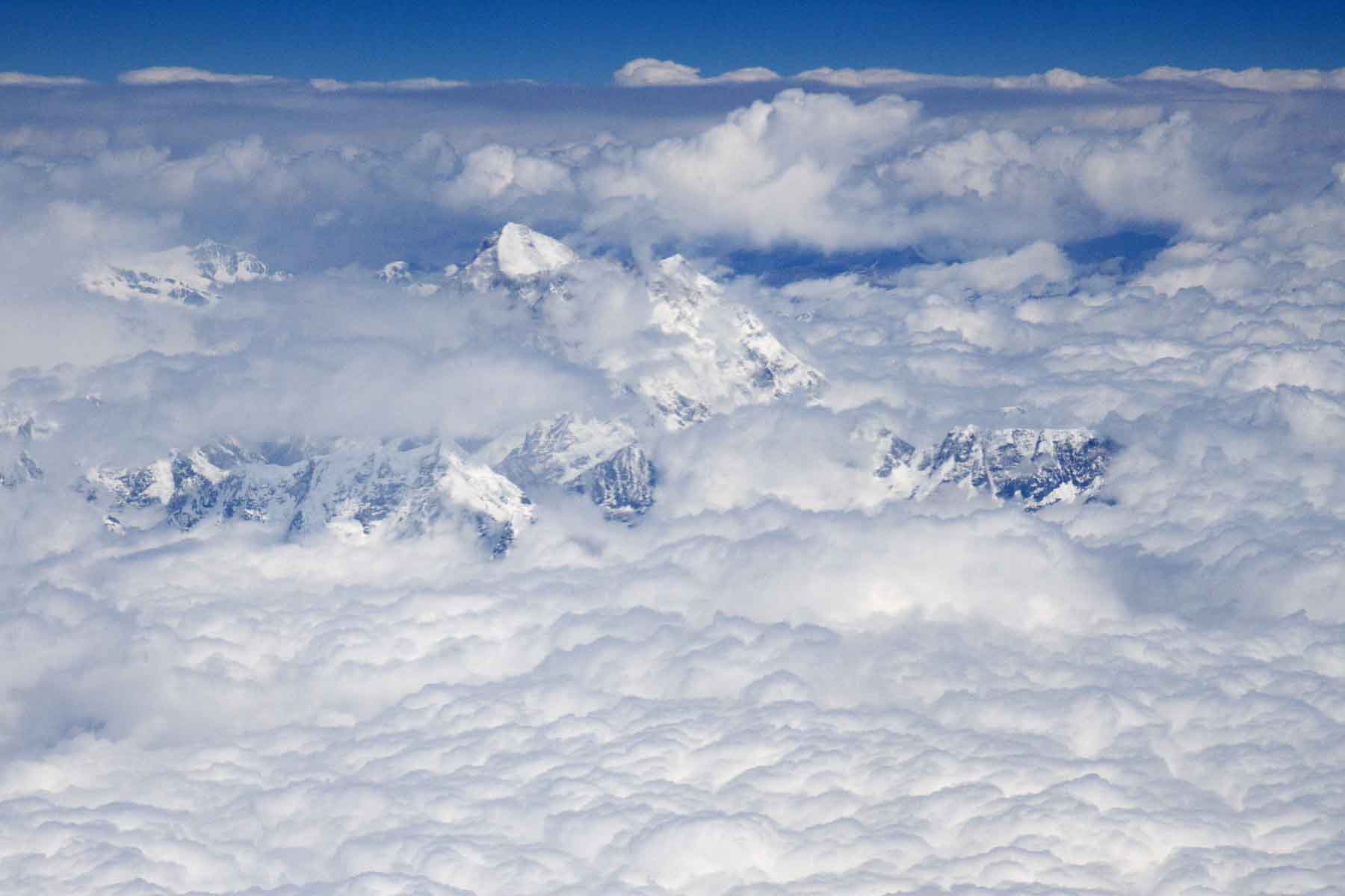 Mt Everest from the window of our plane