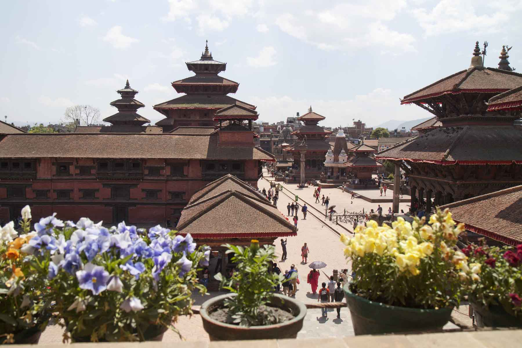 View of Patan Durbar Square from Cafe du Temple, Kathmandu