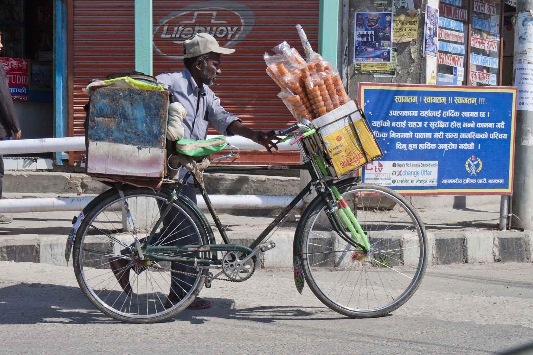 Ice cream man, Kathmandu, Nepal