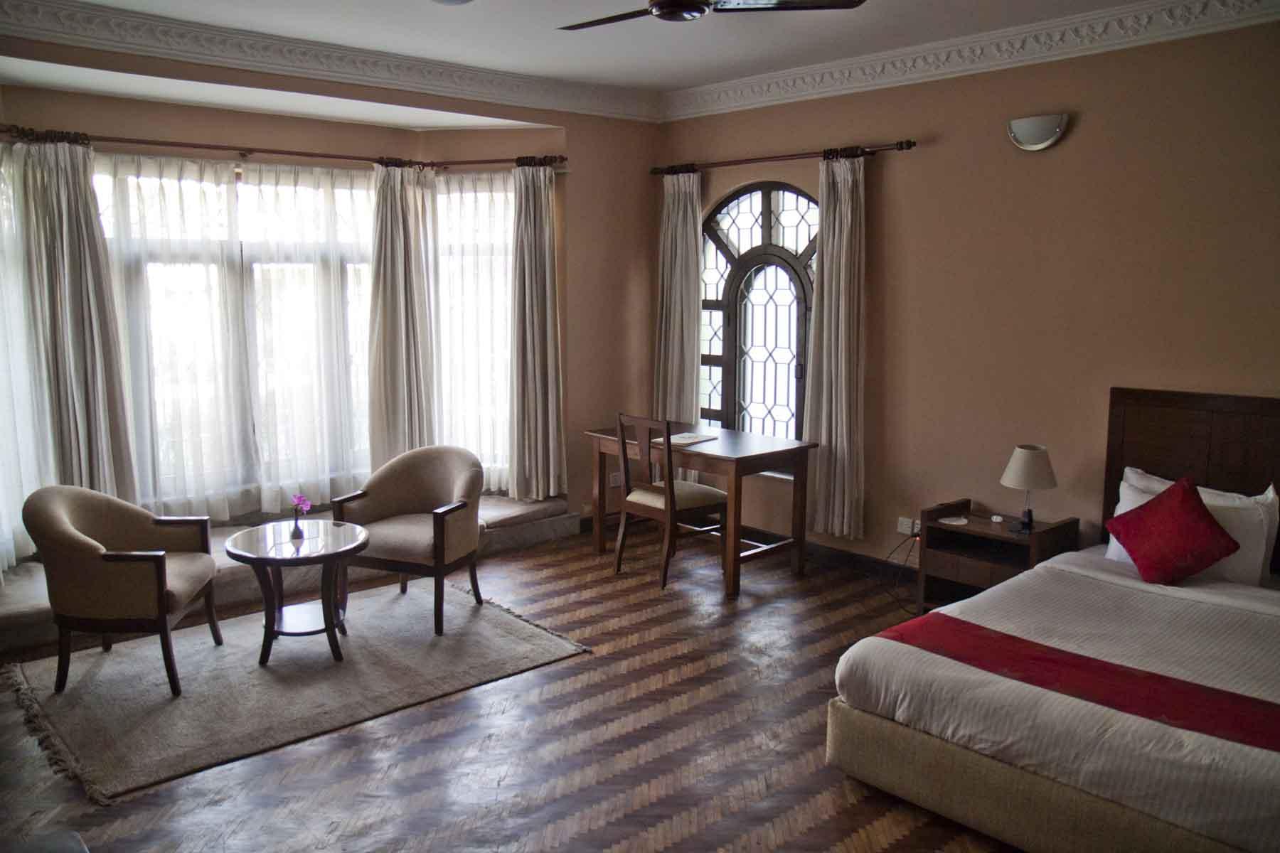 Room interior, ROKPA Guesthouse, Boudha, Kathmandu