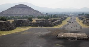 The Pyramid of the Sun and the Avenue of the Dead, Teotihuacán, Mexico