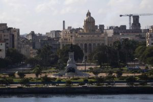 The view of Old Havana from Parque Morro-Cubana